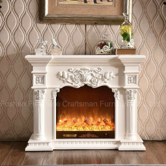 Ce Roved Home Furniture European Led Lights Electric Fireplace 318ss