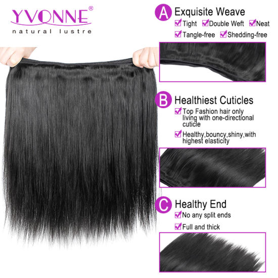 Natural Straight Brazilian Virgin Hair Weave pictures & photos