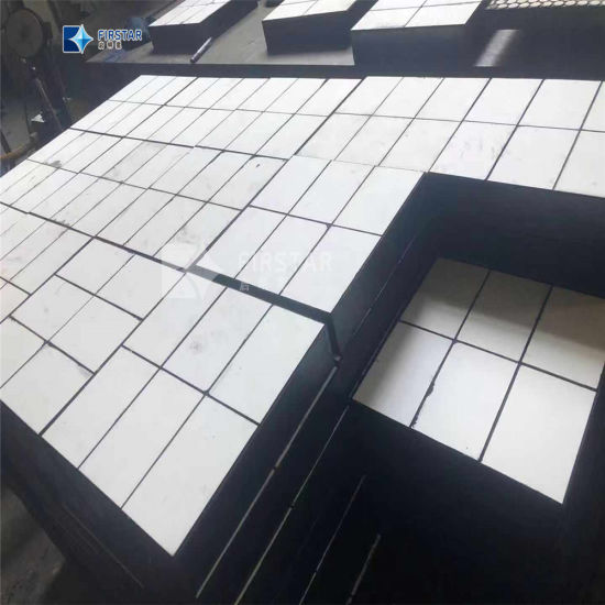 Anti Impact Rubber Steel Backed Ceramic Wear Liners