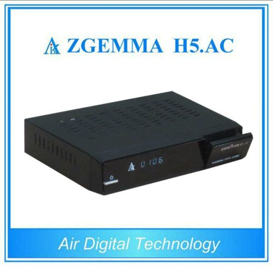 Air Digital New Satellite Receiver Zgemma H5. AC Dual Core Linux OS Enigma2 DVB-S+ATSC H. 265 Two Tuners for America/Mexico pictures & photos