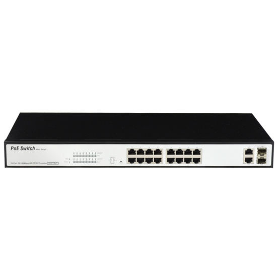 16 Port Poe Switch with 2 Giga Combo Ports (TS2016F) pictures & photos