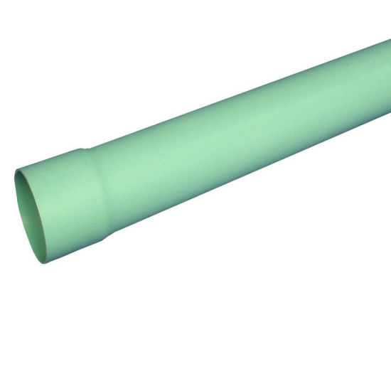 Light Green 6-in X 2-FT Solid PVC Sewer Drain Pipe