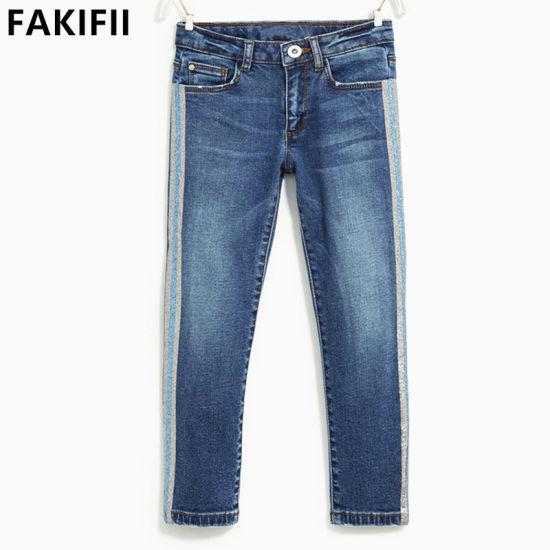 Factory New Design Kids/Baby/Infant Wear Girl Denim Brand Jeans