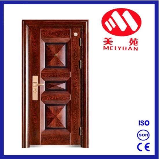 China 2017 New Design 3d Design Elegant Steel Security Exterior Door