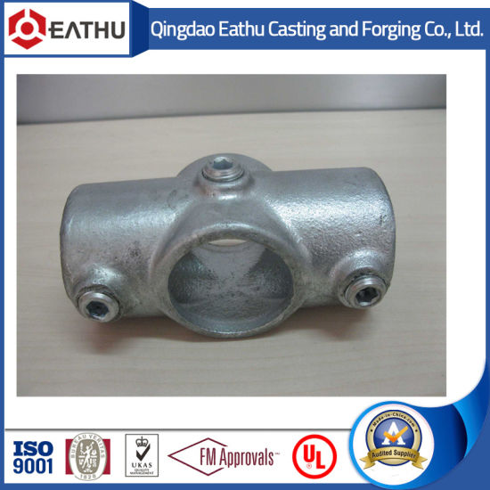 Galvanized Malleable Iron Pipe Clamps Two Socket Cross 119