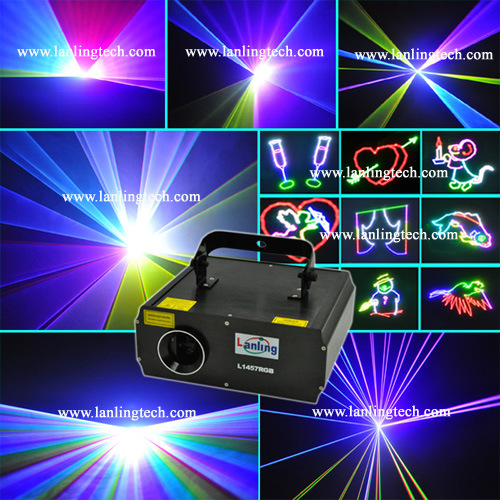 1W Multi Color RGB Animation Stage Laser Light