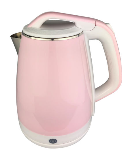 1.8L Lovely Pink Double-Layer Plastic Electric Kettle