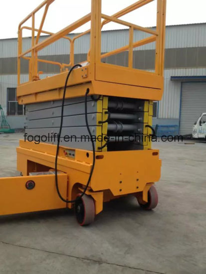 China Portable Mobile Self-Propelled Two Man Lift Elevator pictures & photos