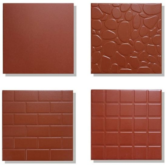 China Red Colour Terracotta Clay Tile Ceramic Tile For Flooring Tile