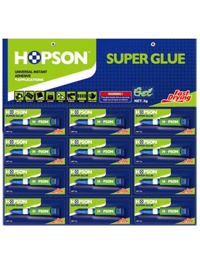 12PCS/Card Aluminum Tube Super Glue Gel (HCA-G12)