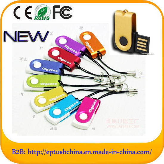 Swivel USB Flash Drive Pen Drive for Business Gift (ET070)