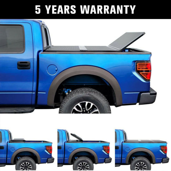The Factory Wholesale Pickup Truck Bed Cover 6.5FT Hard Folding Tonneau Cover - Toyota Tundra