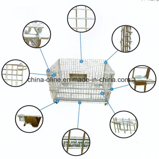 Storage Equipment Warehouse Metal Cage (800*600*640) pictures & photos