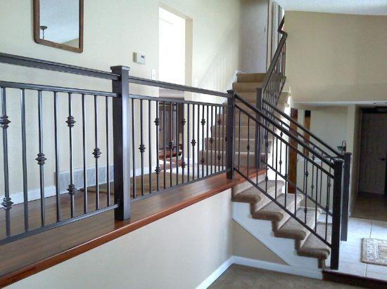 Prefabricated Villa Customized Metal Handrail Modern Wrought Iron Railings