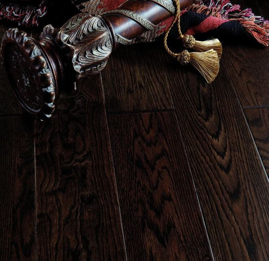 Smoked Oak Engineered Wood Parquet Floor with Rustic Grade pictures & photos