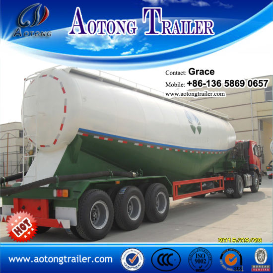 3 Axles Bulk Cement Tank Semi Trailer, Cement Bulk Carriers, Bulk Cement Tanker, Bulk Cement Transport Truck, Bulk Cement Trailer for Sale (volume optional) pictures & photos