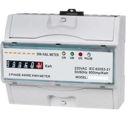 50/60Hz Three Phase DIN-Rail Energy Meter for Residents