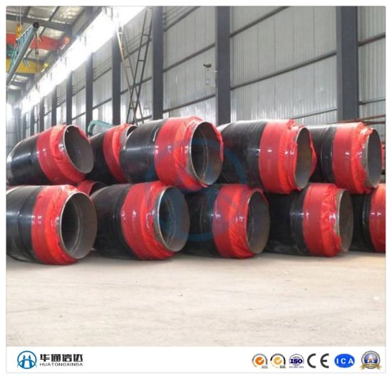 Underground Pre Insulation Pipe Fitting with High Density Polyethylene HDPE Jacket