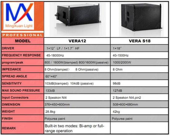 Vera12 DJ equipment Sound System Line Array Speakers