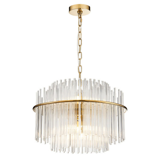 Hotel Livingroom Modern Large Luxury LED Lamp Pendant Crystal Chandelier Lighting