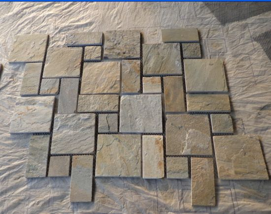 Natural Slate Mosaic Pattern for Walling Decoration and Flooring