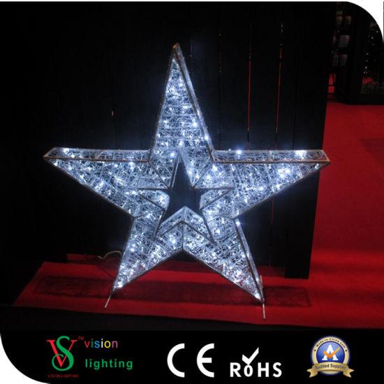 led outdoor decorative christmas 3d star motif lights