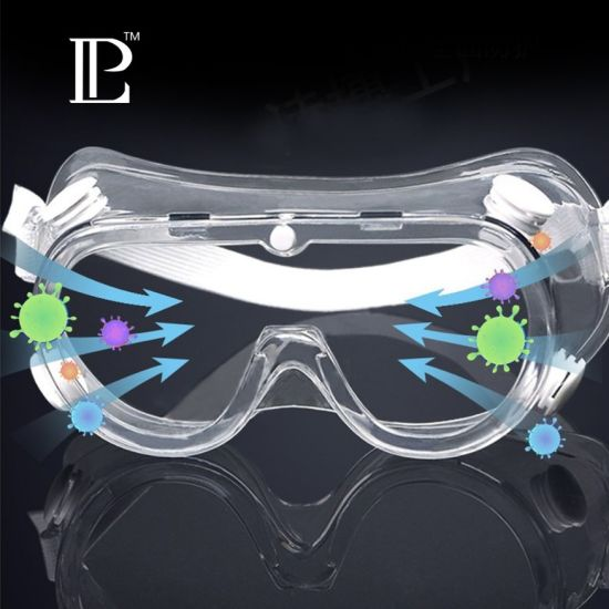 CE Standard Construction Safety Glasses Anti Fog Anti-Scratch Safety Goggles Flank with Unique Ventilation and Protection System