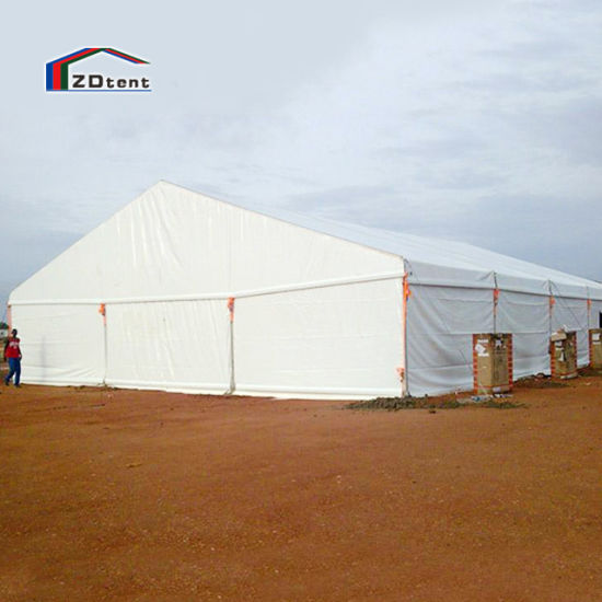 Permanent Outdoor Waterproof Clear Span PVC Fabric Factory Storage Tent