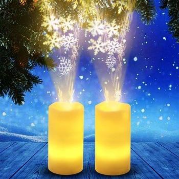 Mini LED Romantic Night Light Simulate Christmas Candle
