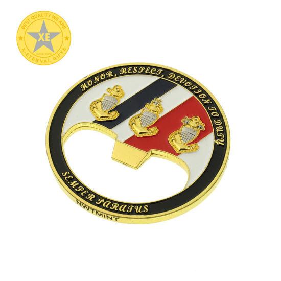 Custom U. S Air Force Military Metal Bottle Opener Coin