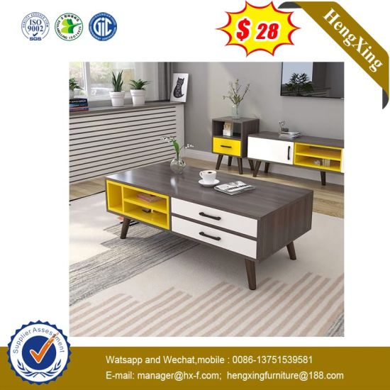 Italian Coffee Table Glossing Particle Board Laminated Nordic Tea Table Furniture (UL-MFC026.1)