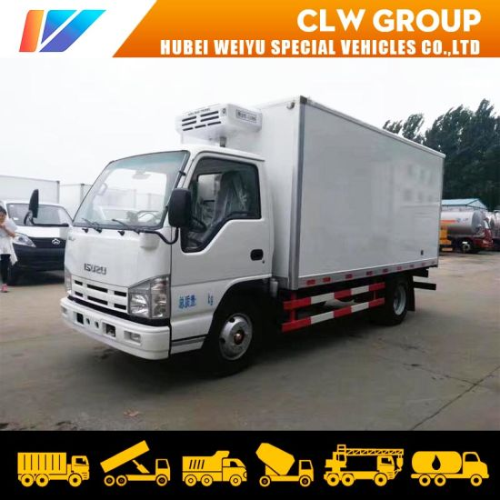 5ton Isuzu Refrigerated Truck with Thermo King Van Box for Transport Meat and Fish