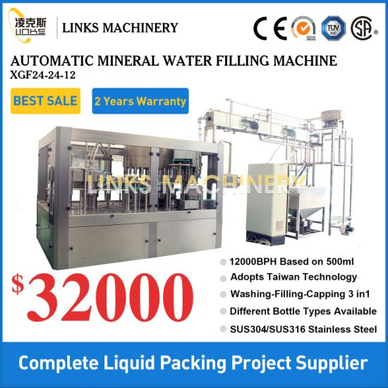Automatic Complete Pure Mineral Drinking Water Filling Machine Bottling Machine Filling Line Packaging Machine