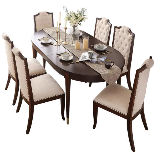 Modern Style European Home Furniture Stainless Steel Dining Table and Chair Set pictures & photos