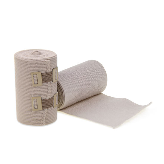 China Medical Colored Elastic Compression Tubular Pressure Gauze Bandage With Clip China Skin Color Elastic
