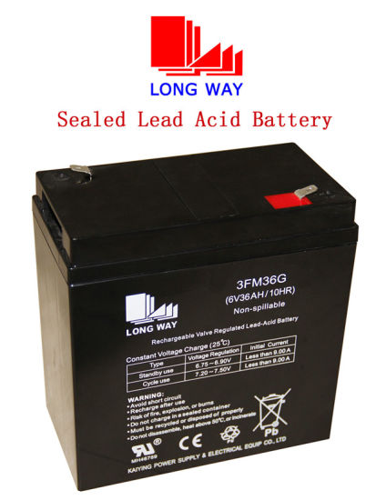 Maintenance Free Lead Acid 6V36ah/10hr UPS Battery with High Quality
