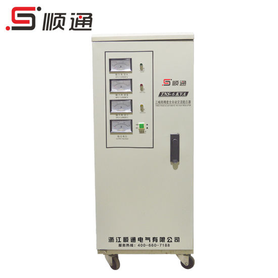 SVC/Tns 6kVA Three Phase High Accurancy Automatic AC Voltage Regulator/Stabilizer