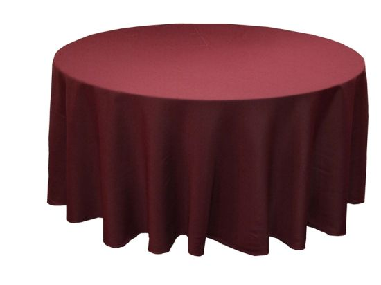 Hot Selling Round Polyester Tablecloth Table Cover for Decoration pictures & photos