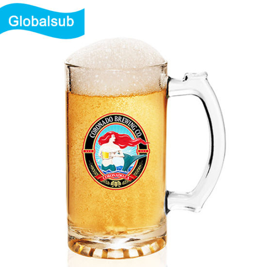 d854c9ead 16oz Traditional Elegant Glass Beer Mugs for Sublimation pictures   photos