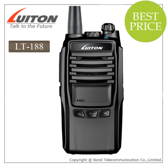 10 Watts Power Output Walkie Talkie Lt-188 Two Way Radio pictures & photos