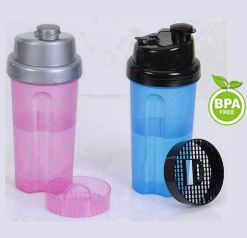 Brand new Plastic Protein Shaker Bottle with Filter