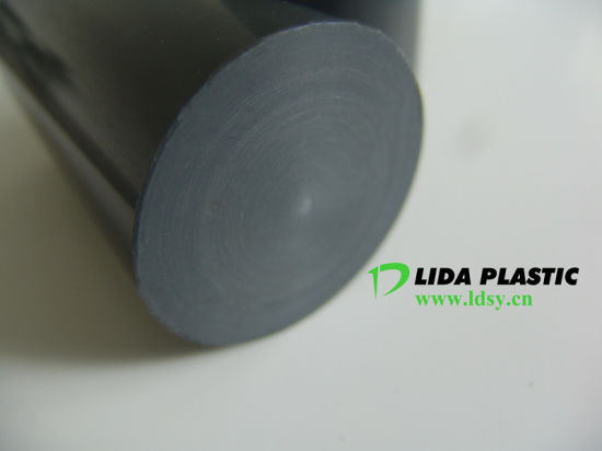 China Factory Produce Grey Black PVC Grey Rod PVC Bar with Diameter 10mm-300mm pictures & photos