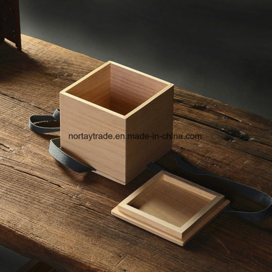 Gift Box With Ribbons Wood Storage