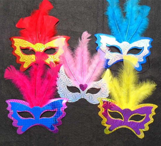 Wholesale Holiday Party Feather Masks