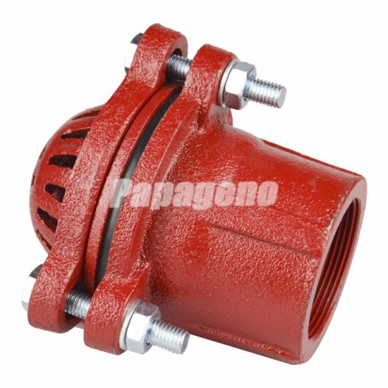 "1-1/2""-8"" Painted Iron Cast Foot Valve"