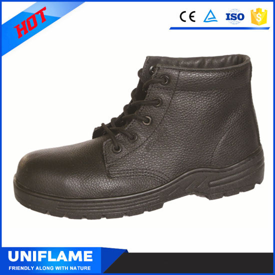 Rubber Cementing Sole Steel Bottom Men Work Safety Shoes pictures & photos