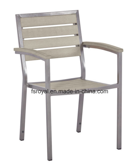 Outdoor Aluminum Plastic Wood Restaurant Dining Chairs pictures & photos