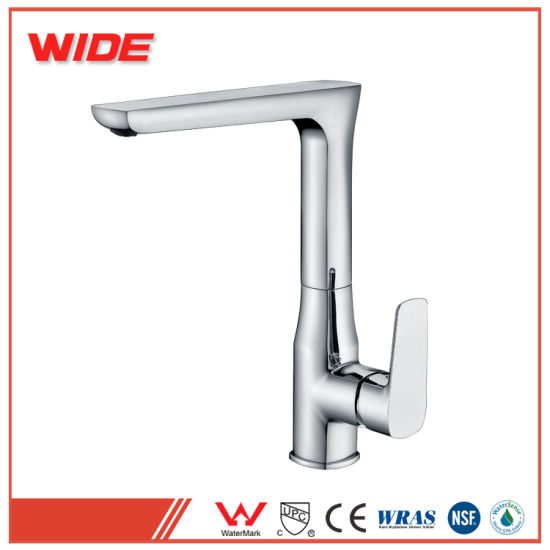 China Low Cost Eco Friendly Black Printing Brass Kitchen Faucet With