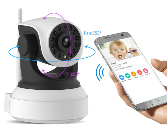 Toesee Wireless Home CCTV Security Indoor 1MP HD 720p WiFi P2p IP Camera  for Baby Monitor Pan/Tilt Two Way Audio P2pwificam APP
