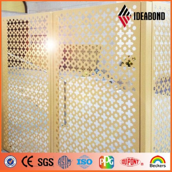 China 2017 Hot Design PE Coating Performated Screen ACP for Bedroom ...